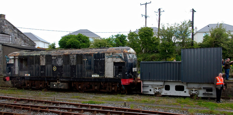 B103 & G601, Carrick on Suir, 8 May 2009     Carrick is the home of the Irish Traction Group, who own a number of diesels.  Next to the Birmingham RCW loco is a 130hp diesel-hydraulic 0-4-0, built by Deutz in 1956.