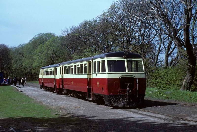 County Donegal railcars, Castletown, 28 May 1979.  Photo by Les Tindall.