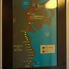 Enterprise progress display, 7 May 2009   Dublin - Belfast Enterprise services are formed of dedicated coaches, which have these displays showing the train's route and progress.