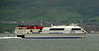Stena Voyager, Belfast Lough, 7 May 2009 - 1227    Stena's 1215 Belfast - Stranraer sailing, worked by the high speed catamaran (photographed from inside a train).