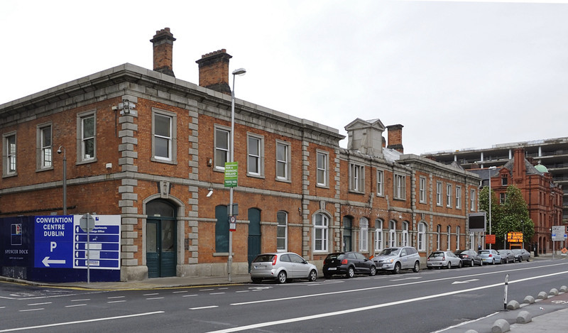 Former LNWR station, North Wall, Dublin, 10 May 2012 1.  The station is is good condition 90 years after it closed.