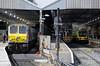 Irish Rail 207 River Boyne / Abheainn na Boinne, 22026 & 29001, Connolly station, Dublin, Mon 14 May 2012 - 1058.  207 stands with an Enterprise to Belfast.