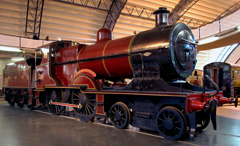 LMS Northern Counties Committee No 74 Dunluce Castle, Ulster Transport Museum, Cultra, Co Down, 7 May 2009 1.     The LMS inherited from the Midland what had been the Belfast & Northern Counties Railway in Ulster.  No 74 was a version of its standard 2P 4-4-0 adapted for the 5ft 3 inch gauge.  Between 1924 and 1936 ten locos, including No 74, were built new, and eight older ones rebuilt in this form.  NB the Fowler chimney.  Here are five photos.