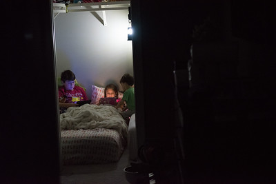 KIds all slept in the interior room just to be safe.