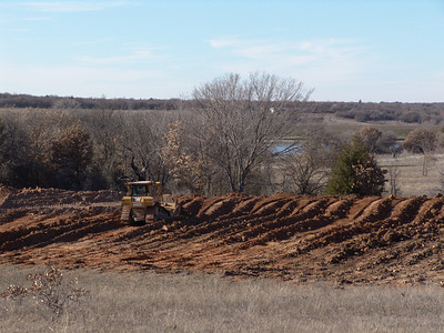 Early stages of North Eagle Lake construction.