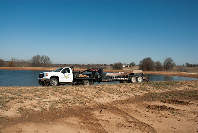 Pond King of Gainesville, TX to install new swim dock and stock North Eagle Lake with game fish.
