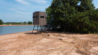 M&B Ranch King Blind leveled and anchored on North Eagle Lake