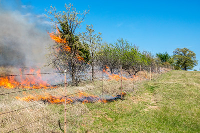 Multiple fires were set along the South Fence Line with South Wind