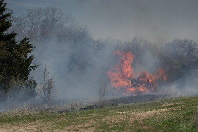 Brush pile burns
