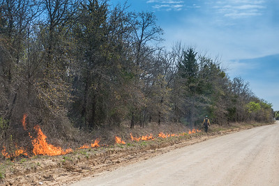 West Fire line set along county road
