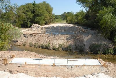 Concrete footings for Bridge