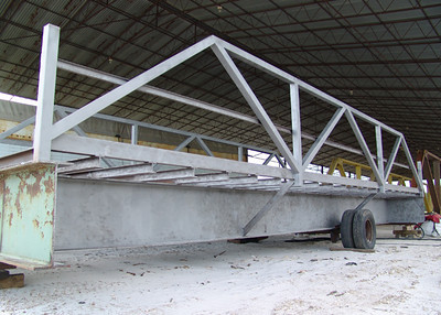 """Custom bridge building...39"""" beams from old highway bridge"""