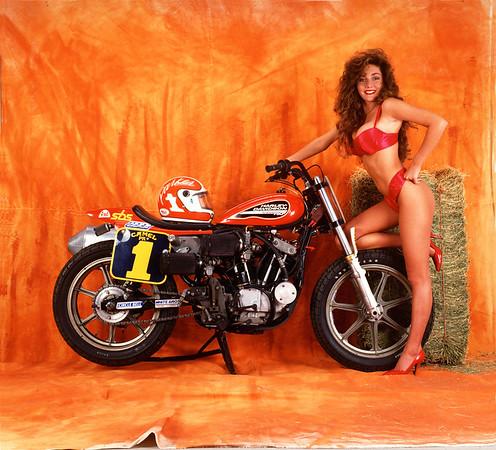 Elizabeth Marr and Scott Parker XR-750 Harley-Davidson
