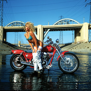 Playboy Playmate Rebekka Armstrong & Bartels Harley-DavidsonCustom Harley-Davidson