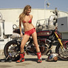 "Playboy Playmate Tamara Witmer with Roland Sands Big Twin Sportbike ""No Regrets"""