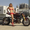 "ILO8.033. Roland Sands Big Twin Sportbike ""No Regrets"" with Playboy Playmate Tamara Witmer"