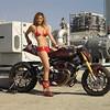 "ILO8.033. Roland Sands Big Twin Sportbike ""No Regrets"" with Playboy Playmate Tamara Witmer"