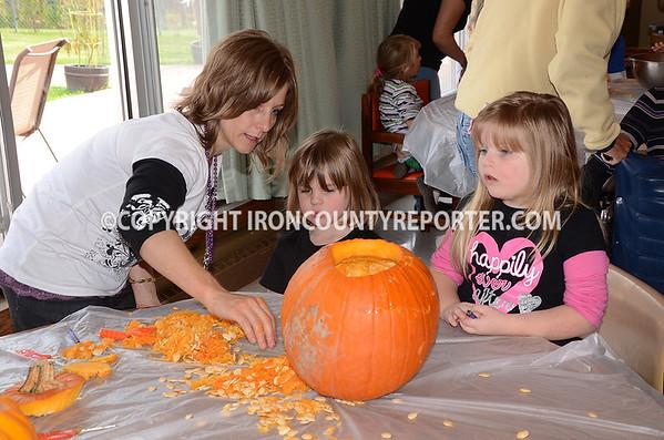 Iron River Care Pumpkim Carving
