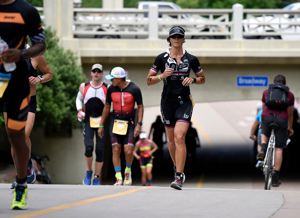 . Kimberly Goodell runs during the 2018 Boulder Ironman race on Sunday in Boulder. For morep photos of the race go to www.dailycamera.com Jeremy Papasso/ Staff Photographer 06/10/2018