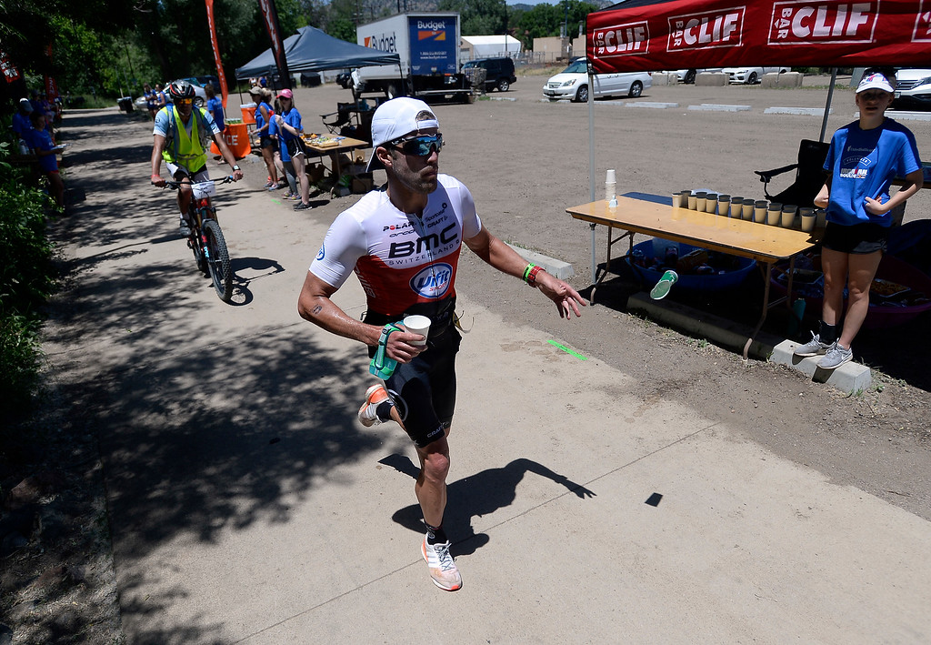 . Chris Leiferman runs during the 2018 Boulder Ironman race on Sunday in Boulder. Leiferman won the race. For morep photos of the race go to www.dailycamera.com Jeremy Papasso/ Staff Photographer 06/10/2018