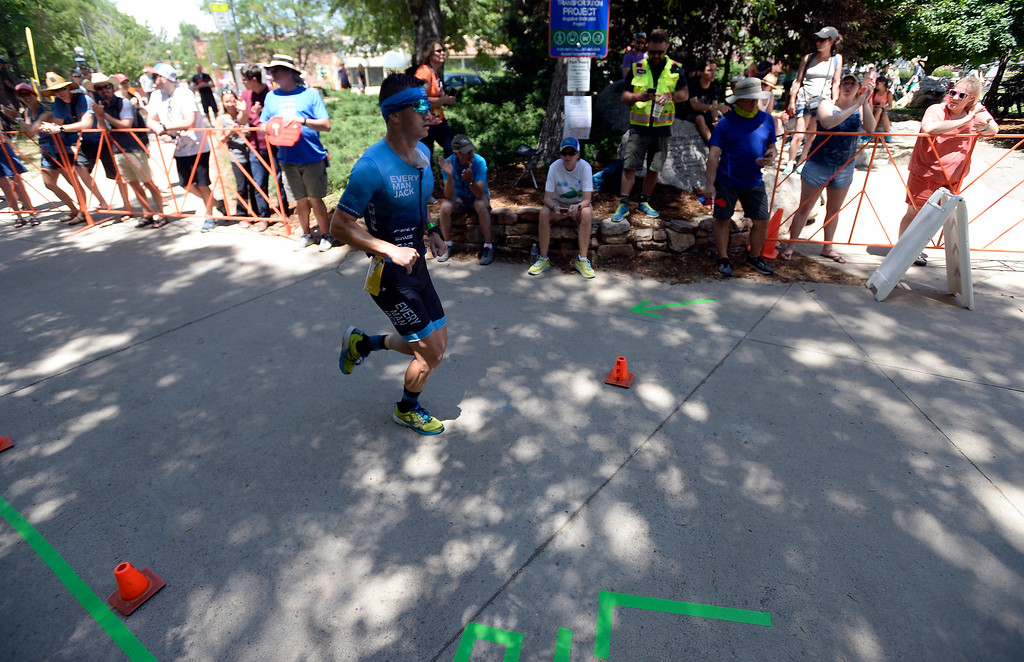 . Conrad Sanders runs during the 2018 Boulder Ironman race on Sunday in Boulder. For morep photos of the race go to www.dailycamera.com Jeremy Papasso/ Staff Photographer 06/10/2018