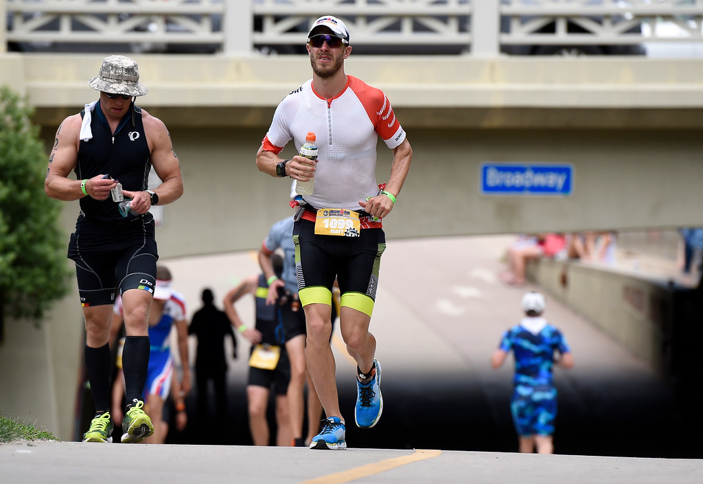 . Matt Giangreco runs during the 2018 Boulder Ironman race on Sunday in Boulder. For morep photos of the race go to www.dailycamera.com Jeremy Papasso/ Staff Photographer 06/10/2018