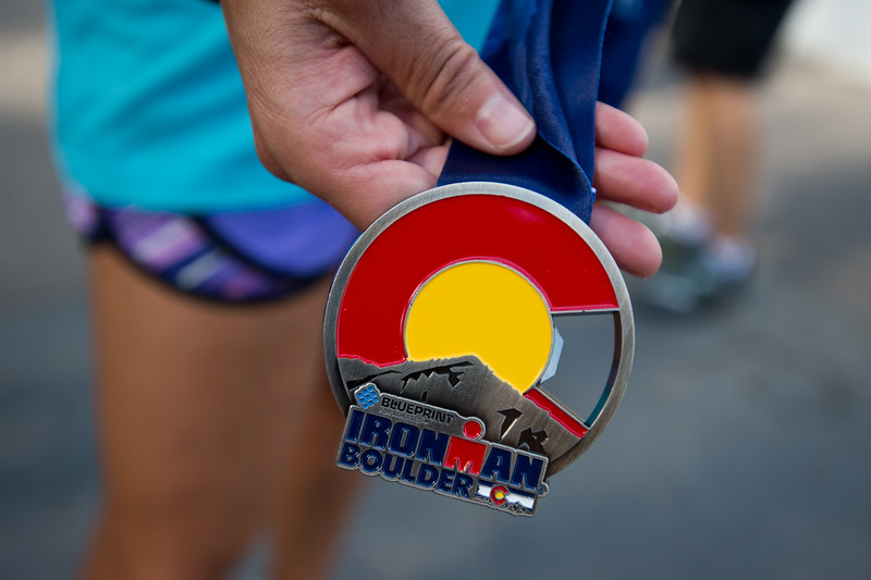 "All athletes were awarded medals after completing the 2016 Ironman Boulder on Sunday. <br /> More photos:  <a href=""http://www.dailycamera.com"">http://www.dailycamera.com</a><br /> (Autumn Parry/Staff Photographer)<br /> August 7, 2016"