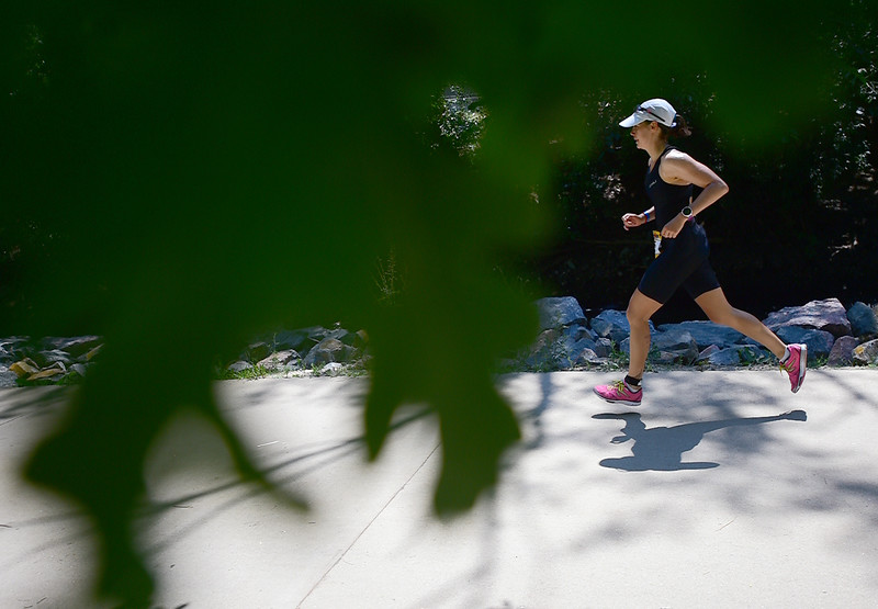 "A participant competes in the running portion of the 2016 Ironman Boulder on Sunday.<br /> More photos:  <a href=""http://www.dailycamera.com"">http://www.dailycamera.com</a><br /> (Autumn Parry/Staff Photographer)<br /> August 7, 2016"