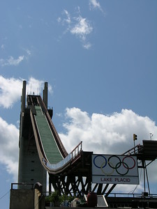 Ski jump training before Ironman Lake Placid