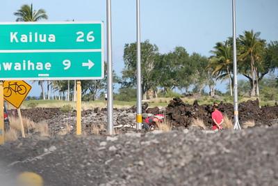 Ironman Triathlon Bike Course Queen K Waikoloa Mile 25 Outbound Photos by Raymond Britt