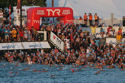 Ironman Kona Triathlon Swim Photo by Raymond Britt