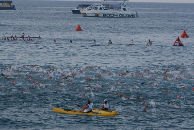 Ironman Kona Triathlon Swim Photo by Raymond Britt