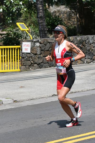 Ironman Triathlon Run Course Start and Alii Drive Hot Corner Photos by Raymond Britt