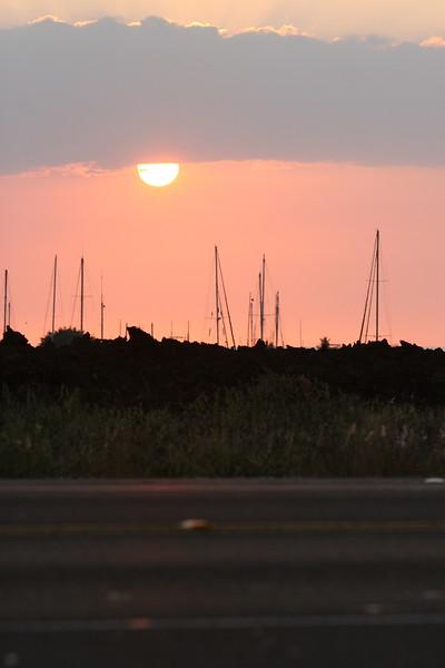 Ironman Kona Triathlon Run Course Queen K Sunset Photo by Raymond Britt