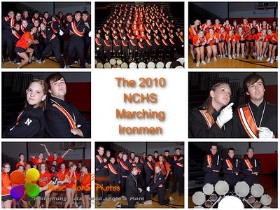 The NCHS Marching Ironmen 2010 (White background)  To avoid any cropping of the image order as a 5x7, 8.5x11 or 10x13.   ©Music Man5 Photos