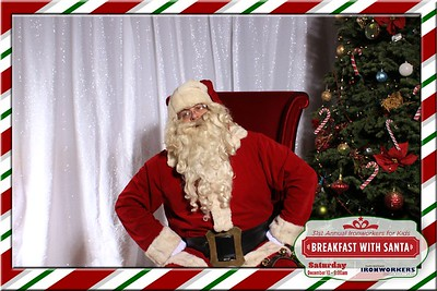 Ironworkers Fed. CU Photos with Santa