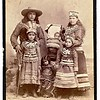 Two Iroquois children wearing crowns, ca. 1885.  Cabinet photo.