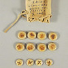 Bone game tokens with known provenance.  Late 19th/early 20th century.