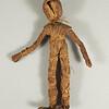 """Corn husk doll, last 1/4 19th century.  8 1/4 x 5 1/4"""" (21.9 x 13.3 cm.)"""
