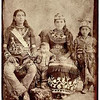 Photograph of an Iroquois family, the woman wearing a beaded crown, ca. 1890.