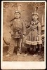 Iroquois children with crowns, ca. 1880s.  CDV.