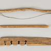 "Fire making kit, first half 20th C.  Lengths:  Bow, 22 1/2"" (57.2 cm.) Drill,  13 1/2"" (34.2 cm)  Anvil, 13 5/8"" (34.6 cm.)"