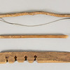 "Fire making kit, first half 20th C.  Lengths:  Bow, 22 1/2"" (57.2 cm.) Drill, <br /> 13 1/2"" (34.2 cm)  Anvil, 13 5/8"" (34.6 cm.)"