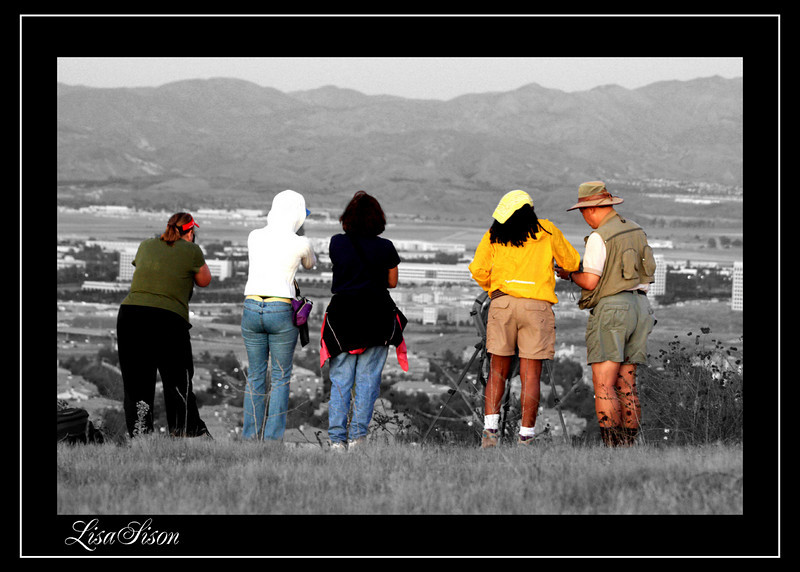 101-Lisa-Photography Hike - Really creative image to change all to B&W except the people