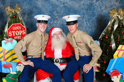 3-5 Military Christmas Party Santa Pictures