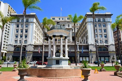900 Fourth Avenue, San Diego, CA - 1907 Horton Plaza Fountain, Irving Gill, Architect.  U.S. Grant Hotel in the background