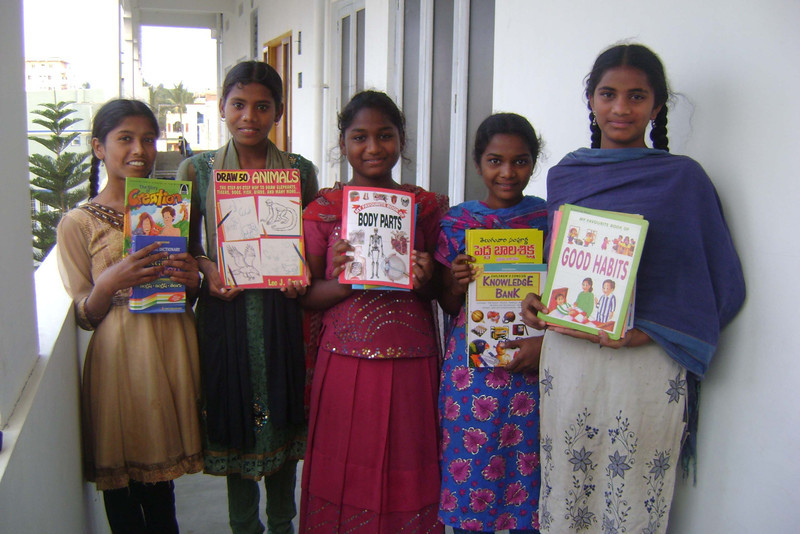 Girls of SH showing off new books.