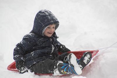 Isaac - 5 years - January 2016 snowstorm