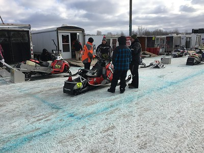 Kullen Logsdon - The Morning Sun Snowmobile lovers gather at the Isabella County Fairgrounds for the No Bull Triple Crown Enduro Snowmobiling racing series in Mt. Pleasant on Friday, January 6, 2016.