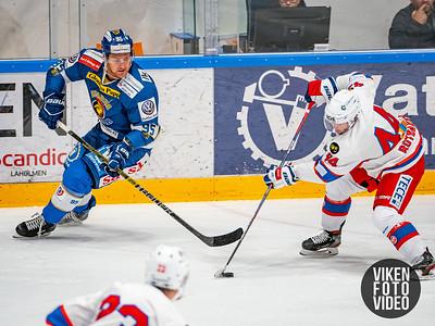 Spartas spiller Didrik Nøkleby Svendsen og Vålerengas spiller Svein Linus Rotbakken i kampen mellom Sparta og Vålerenga.   Foto: Thomas Andersen